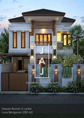 Desain Rumah 2 5 Lantai Dengan Luas Bangunan 200m2 Yang Berlokasi Di Jakarta Desain Rumah Bungalow Desain Rumah 2 Lantai Desain Rumah Eksterior