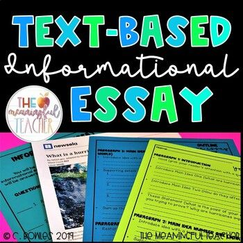Text-Based Informational Essay Writing Prompt | Hurricanes | Distance Learning