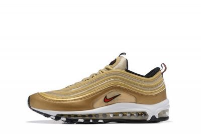 "Nike Air Max 97 ""Metallic Gold"" Metallic GoldVarsity Red White Black"