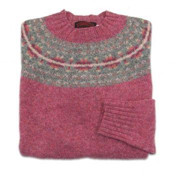 01734714b6 O Connell s Womens Scottish Shetland Sweater - Fair Isle Yoke - Cottage