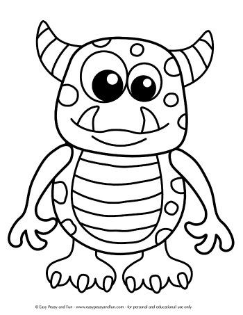 Halloween Coloring Pages Free Halloween Coloring Pages Monster