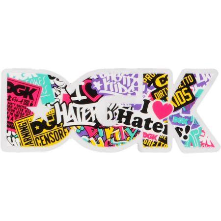 DGK Logo Skate Sticker Roll It Up Dirty Ghetto Kids skateboards helmets decal