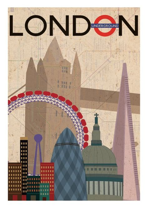 London landmark illustration by Picture Deckss