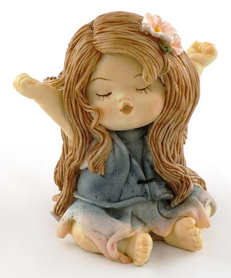 Miniature Figurine FAIRY GARDEN ~ Sweet Little Yawning Fairy Girl ~ NEW