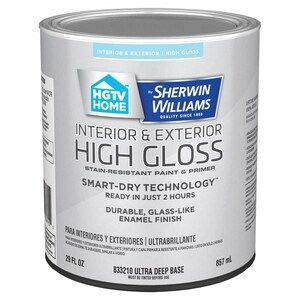 Hgtv Home By Sherwin Williams Ultra Deep Water Based Door And Trim Paint 1 Quart Lowes Com In 2020 Door And Trim Paint Painting Trim Hgtv Home By Sherwin Williams
