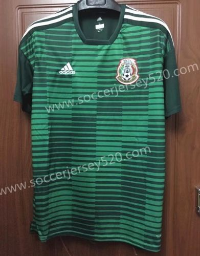 2018 World Cup Mexico Green Thailand Training Soccer Jersey Mexico Soccer Jersey Soccer Training Soccer Jersey