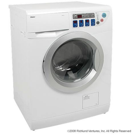 Haier washer dryer combo and why it's better than a normal washer.  Good article from Tiny House Blog