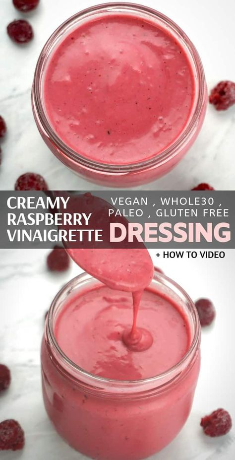 Creamy Raspberry Vinaigrette Salad Dressing Recipe - A Simple and Healthy Way to Refine Your Boring Salad with a Homemade Creamy Vinaigrette Salad ... - #creamy #dressing #raspberry #recipe #salad #simple #vinaigrette - #new