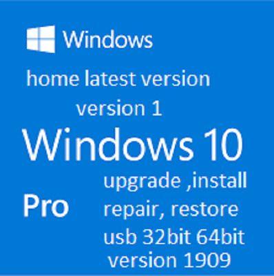 Ebay Link Ad Windows 10 Home Pro V 1909 Upgrade Install Repair Restore Bootable Usb 32 64 Bit Windows 10 Installation Repair