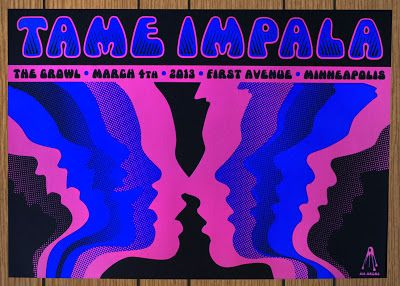 Tame Impala Minneapolis Poster by Kii Arens Tame Impala, Rock Poster, Poster Wall, Poster Prints, Gig Poster, Concert Posters, Bedroom Wall Collage, Photo Wall Collage, Picture Wall