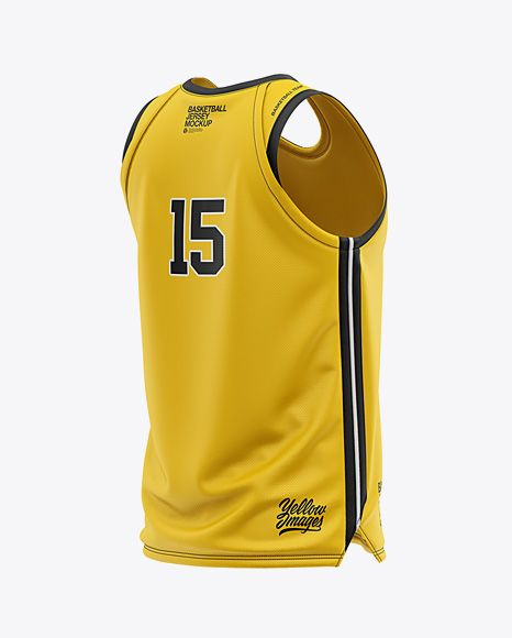 Download Men S U Neck Basketball Jersey Mockup Back Half Side View In Apparel Mockups On Yellow Images Object Mockups Clothing Mockup Design Mockup Free Shirt Mockup