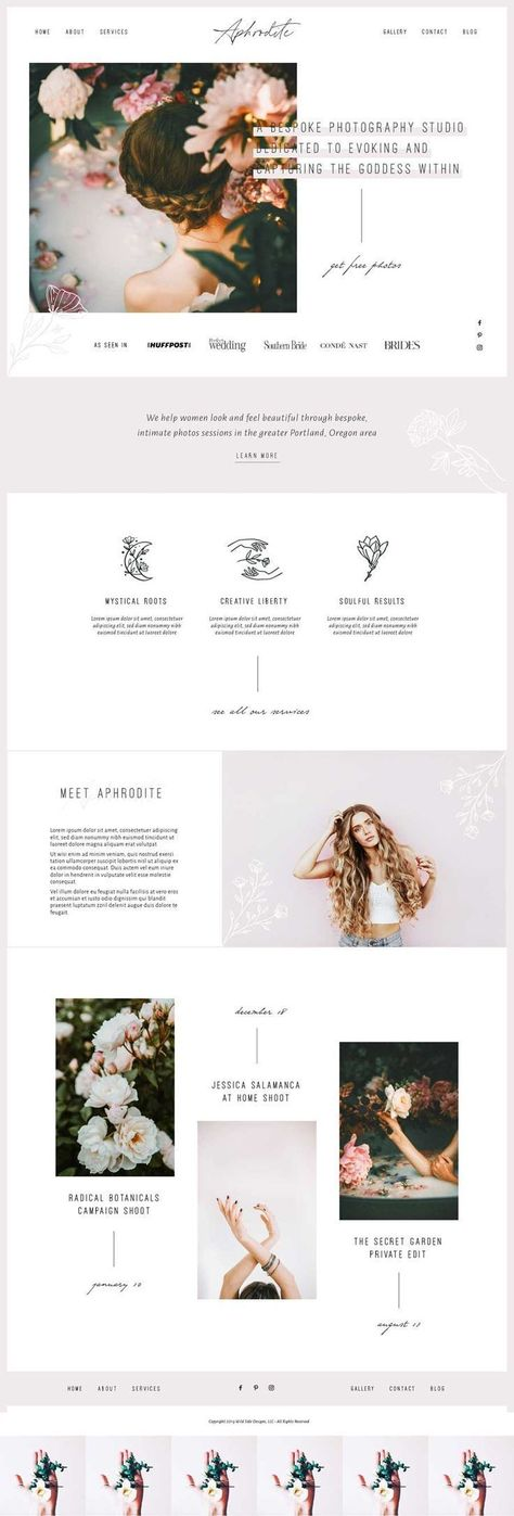 Aphrodite Wordpress Theme by Wild Side Design Co.