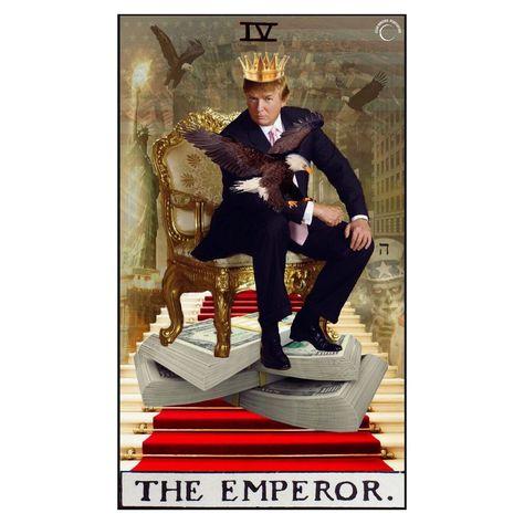 "lilian • art • design on Instagram: ""the emperor. 🤴🏼 . #godsavethefuture #godsaveamerica #tarotcollage #digitalcollage #majorarcana #collage_tarot #theemperor #4 #ה #design…"""