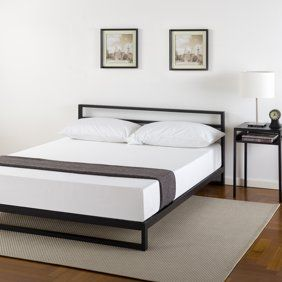 Zinus Suzanne Metal And Wood Platform Bed With Headboard Walmart