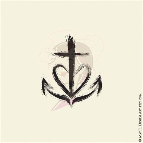 Faith, Hope and Love clipart design commercial use #church #symbols #faith #hope #love