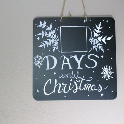 Days Till Christmas Chalkboard.Days Till Christmas Chalkboard Sign From Life S Gems 12