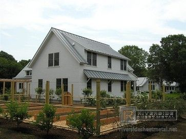 Metal Roofing Dove Gray 1 Traditional Exterior Metal Roof Houses House Exterior Metal Roof
