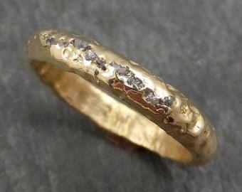 Diamants Libres Du Conflit Alliance 14k Or Noir Gris Brut