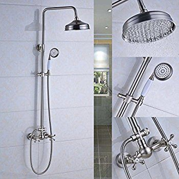 Rozin Bathroom Tub Shower Faucet Units 8 Inch Rainfall Shower Head