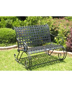 @Overstock - Add a classic, durable touch to your backyard, patio or porch with this double rocker benchOutdoor furniture is constructed of sturdy iron with a versatile finishPatio furniture is highlighted by an allover lattice motifhttp://www.overstock.com/Home-Garden/Lattice-Iron-Double-Rocker-Bench/1710334/product.html?CID=214117 $186.99