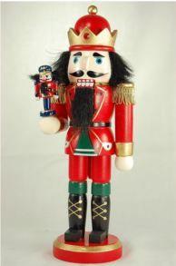 Wooden Christmas Nutcracker King with Nutcracker
