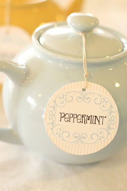 mint tea would be lovely