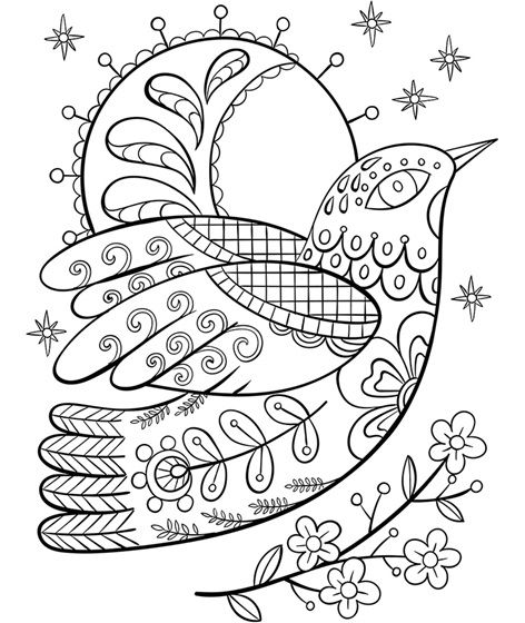 Ornate Dove Www Crayola Com Coloring Pages Winter Crayola