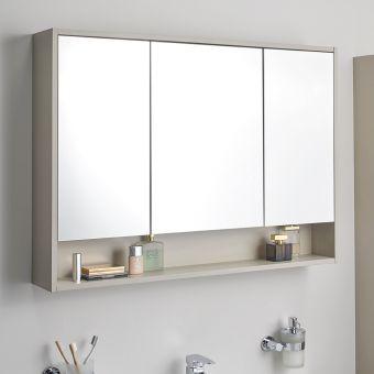 Vitra Integra Medium 80cm Mirror Cabinet In 2020 Bathroom Mirrors Uk Large Bathroom Mirrors Bathroom Mirror Storage