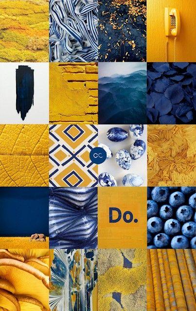 Contemporary Colour Palette Couleur Gamme De Couleur Jaune Et Bleu