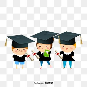 Graduates Cartoon Characters Character Education Learning Png