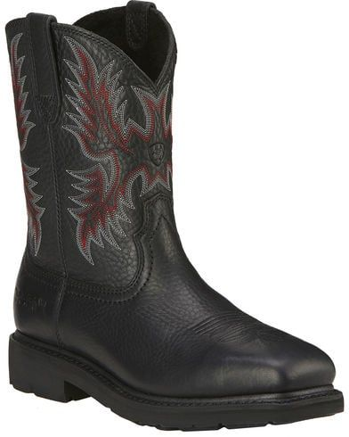 611a8b90429 Ariat Men's Sierra Western Work Boots - Steel Toe | Mens boot ...