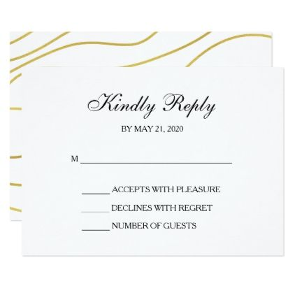 White Gold Rsvp Wedding Response Cards Zazzle Com With Images
