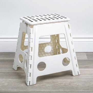 Ksp Dots Folding Step Stool Large White Stool Large White