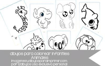 Imprimir Y Colorear Dibujos Infantiles De Animales Dibujo