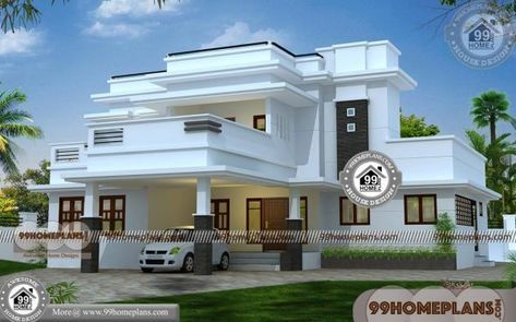 Home Plan Design Online 80 Small Double Storey House Designs Flat Roof House Kerala House Design Double Storey House