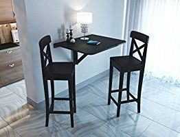 Amazon Com Fasthomegoods Wallniture Drop Leaf Dining Table Wall
