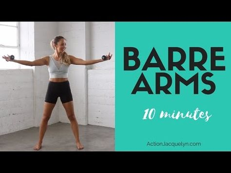 Barre Arm Workout is part of fitness For this barre arm workout, personal trainer Action Jacquelyn (certified in mat and reformer Pilates, barre, and Kundalini yoga) uses threepound weight - Ballet Barre Workout, Barre Workout Video, Cardio Barre, Pilates Barre, Pilates Workout, Hiit, Workout Videos, Home Barre Workout, Dancer Workout Plan
