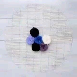 Como fazer tapete de pompom passo a passo - #diycrafts