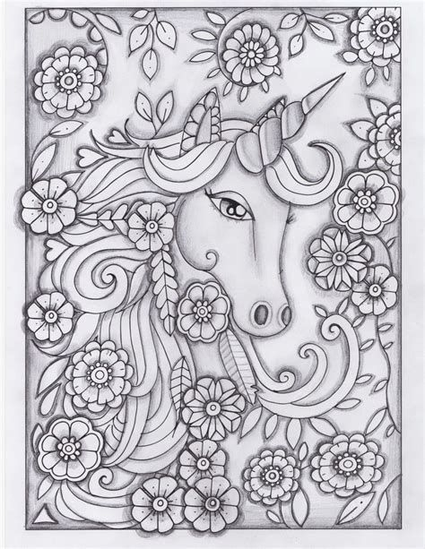 Image Result For Adult Printable Unicorn Coloring Pages Large