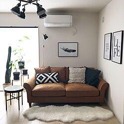コストコのムートン サイドテーブル 建て売りでもお洒落にしたい Sukima Sukimaオリジナルソファ などのインテリア実例 2018 02 01 21 45 30 Roomclip ルームクリップ 2020 家具のアイデア インテリア インテリア 実例