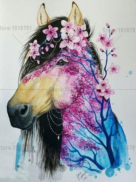 5d Diy Diamond Painting Flower Horse Cross Stitch Kits  Diamond mosaic Wall stickers Diamond Embroidery Crystal Home Decoration. Yesterday's price: US $7.03 (6.27 EUR). Today's price (December 2, 2018): US $7.03 (6.27 EUR). Discount: 27%. #Arts #Crafts #Sewing #diamond #wall
