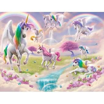 Avila Unicorn 10 L X 24 W Smooth Peel And Stick Wallpaper Roll Unicorn Wall Mural Unicorn Wallpaper Unicorn Pictures