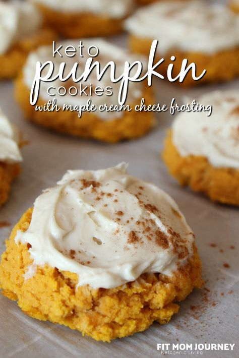 Keto Pumpkin Cookies with Maple Cream Cheese Frosting - Fit Mom Journey