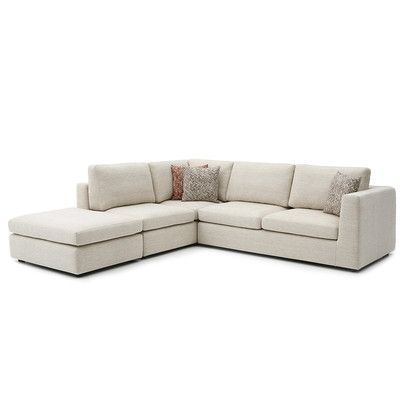 Focus One Home Emily Sectional Upholstery Lyndon Mist Orientation Right Hand Facing Avec Images Canape Modulable Chambre Ado Fille Table Basse Bois