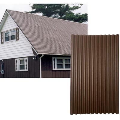 Ondura 48 In X 79 In Organic Fiber Core Asphalt Brown Ondura Corrugated Roofing Panels In 2020 Roof Panels Corrugated Roofing Roofing