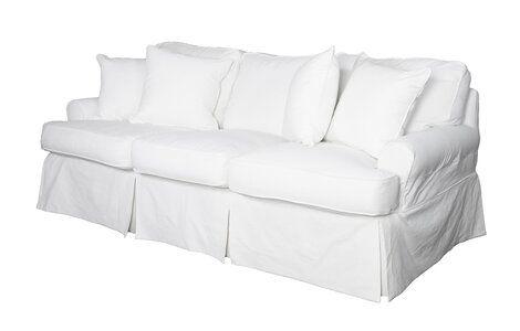Coral Gables T Cushion Sofa Slipcover Cushions On Sofa White Slipcover Sofa Slipcovered Sofa