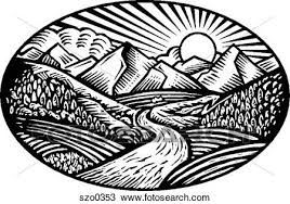 Image Result For Nature Scene Coloring Clipart Linocut Art Art Scratchboard Art