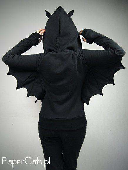 Bat hoody for batty girls