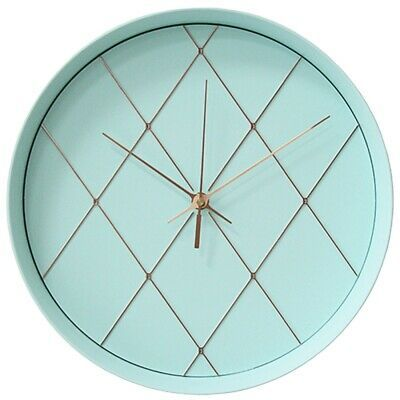 12 Inch Creative Minimalist Clock Mint Green Round Wall Clock Modern Design T1a6 In 2020 Minimalist Clocks Wall Clock Round Wall Clocks