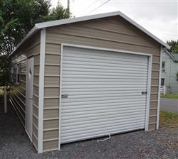 12x26 Boxed Eave Style Metal Garage in 2019 | Sheds | Metal